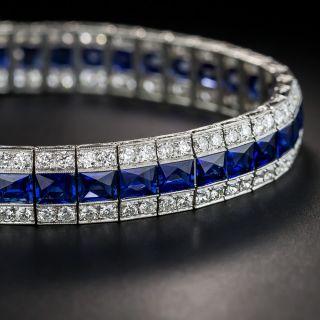 Oscar Heyman Art Deco Sapphire and Diamond Bracelet  - 1