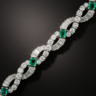 Oscar Heyman Brothers Emerald and Diamond Bracelet - 5