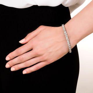 Oscar Heyman Carre-Cut Diamond Line Bracelet