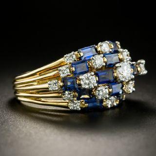 Oscar Heyman Diamond and Sapphire Cocktail Ring