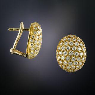Oval Pavé Diamond Earrings