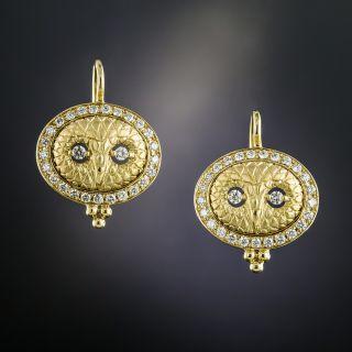 Owl Diamond Earrings by Temple St. Clair - 2