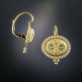 Owl Diamond Earrings by Temple St. Clair