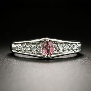 Padparadscha Sapphire and Diamond Ring - 2