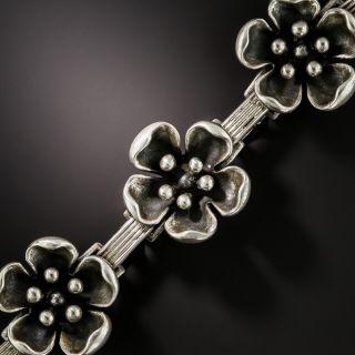 Pair of Danish Sterling Flowers Bracelet