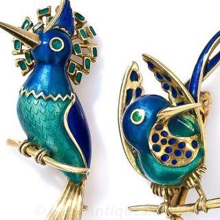 Pair of Love Bird Pins