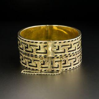 Pair Of Victorian Black Enamel Bangle Bracelets