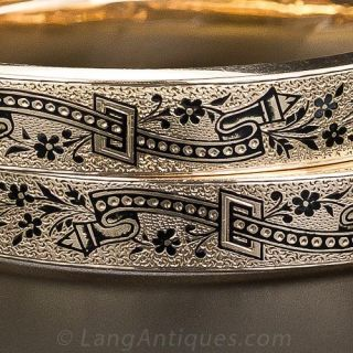 Pair of Victorian Enameled Bangle Bracelets