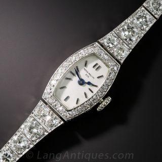 Patek Philippe Art Deco Platinum and Diamond Bracelet Watch