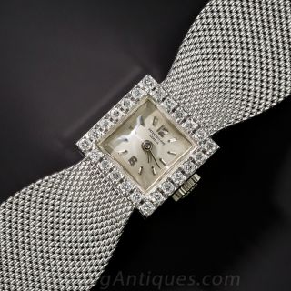 Patek Phillipe 18K WG and Diamond Bracelet Watch