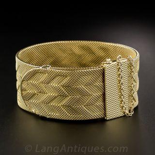 Patek Phillipe 18K Wide Bracelet Watch