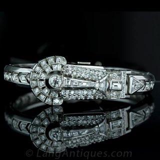 Paul Ditisheim Diamond Covered Bangle Watch Main View