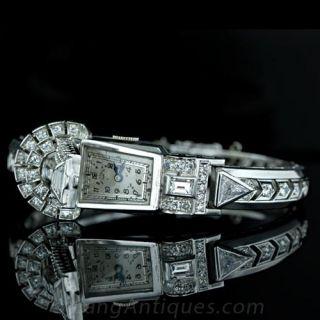 Paul Ditisheim Diamond Covered Bangle Watch