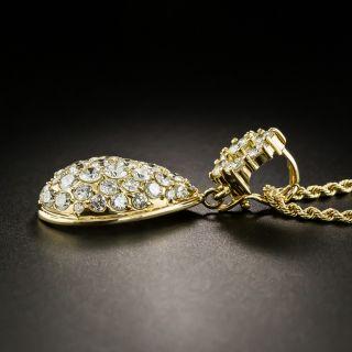 Pavé Diamond Pendant Necklace - 5.36 Carats