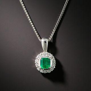 Petite .33 Carat Emerald and Diamond Drop - 2