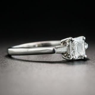 Petite .40 Carat Emerald-Cut Diamond Engagement Ring