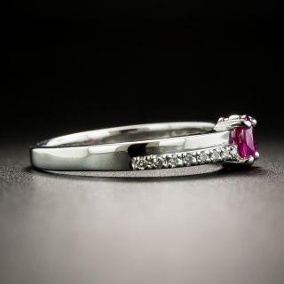 Petite.41 Carat Ruby and Diamond Ring
