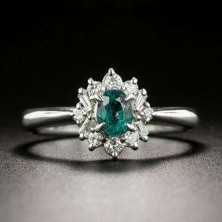 Petite Alexandrite and Diamond Halo Ring - 2