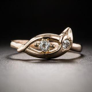 Petite Antique Diamond Snake Ring - 2