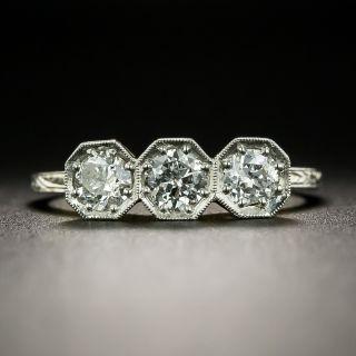 Petite Art Deco Three-Stone Diamond Ring - 2