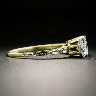 Petite Art Deco Three-Stone Diamond Ring