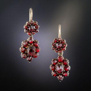 Petite Bohemian Garnet Drop Earrings - 2
