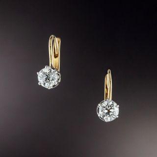 Petite Diamond Dangle Earrings - Circa 1900  - 2
