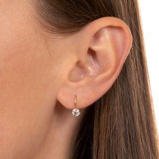 Petite Diamond Dangle Earrings - Circa 1900