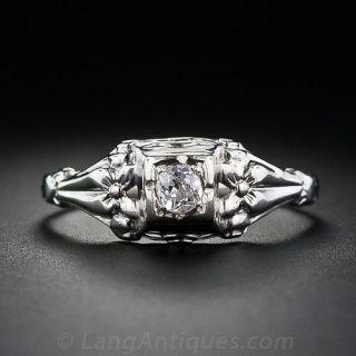 Petite Diamond Solitare Ring
