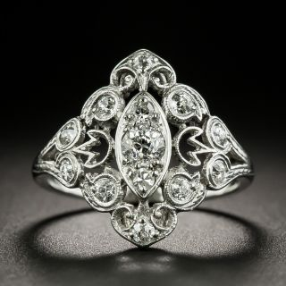 Petite Early Art Deco Diamond Dinner Ring - 3