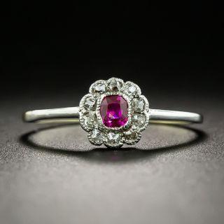 Petite Edwardian Ruby and Diamond Ring - 2
