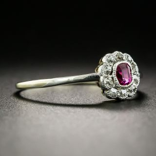 Petite Edwardian Ruby and Diamond Ring