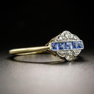 Petite English Edwardian/Art Deco Sapphire Diamond Ring