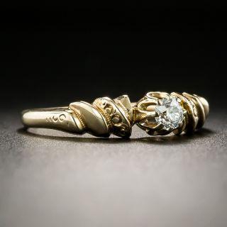 Petite Victorian .17 Carat Diamond Solitaire Engagement Ring
