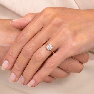 Petite Victorian Diamond Cluster Ring