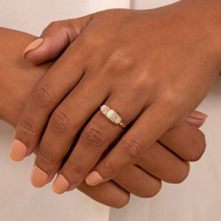 Petite Victorian Opal Three-Stone Ring