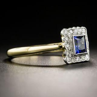 Petite Vintage Style Sapphire and Diamond Ring