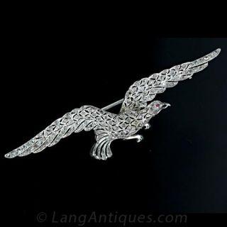 Platinum and Diamond Eagle in Flight Main View