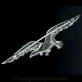 Platinum and Diamond Eagle in Flight