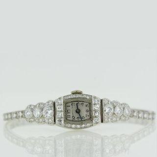 Platinum and Diamond Ladies Bracelet Watch