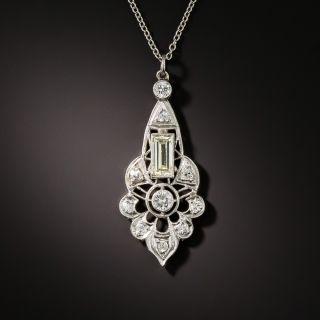 Edwardian Style Diamond Pendant Necklace - 1