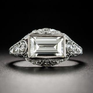 Platinum Art Deco 1.76 Ct Emerald Cut Ring - 1