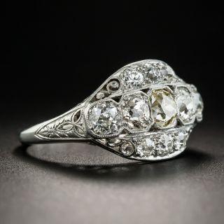 Platinum Art Deco Multi-Diamond Ring