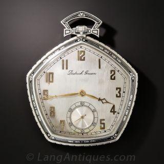 Platinum Art Deco Pocket Watch by Dietrich Gruen