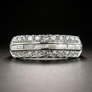 Platinum Diamond Baguette Band  - 2