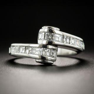 Platinum Diamond Bypass Ring - 1