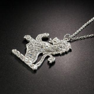 Platinum Diamond Lion Rampant Pendant