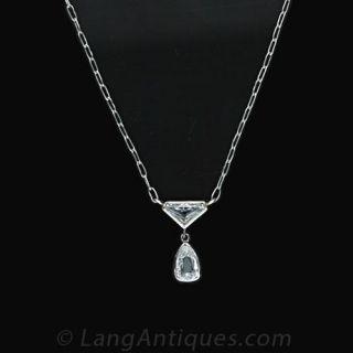 Platinum Diamond Necklace Main View