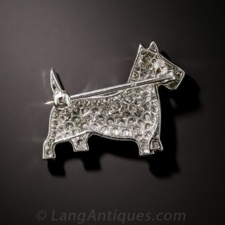 Platinum Diamond Scotty Pin