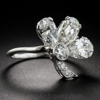 Platinum Diamond Shamrock Ring